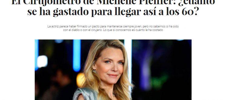 Michelle Pfeiffer artículo cirugía plástica